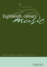 Eighteenth-Century Music Volume 14 - Issue 2 -