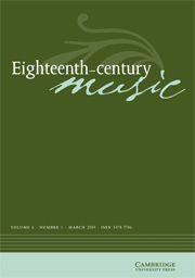 Eighteenth-Century Music Volume 6 - Issue 1 -