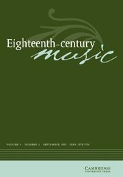 Eighteenth-Century Music Volume 6 - Issue 2 -