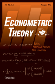 Econometric Theory Volume 28 - Issue 1 -