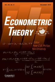 Econometric Theory Volume 28 - Issue 6 -
