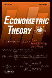 Econometric Theory Volume 29 - Issue 1 -