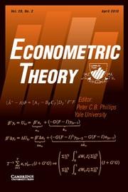 Econometric Theory Volume 29 - Issue 2 -