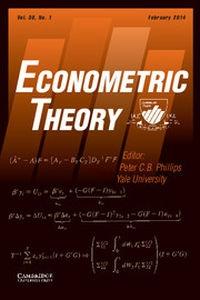 Econometric Theory Volume 30 - Issue 1 -