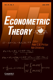 Econometric Theory Volume 31 - Issue 3 -