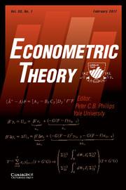 Econometric Theory Volume 33 - Issue 1 -