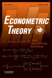Econometric Theory Volume 34 - Issue 1 -