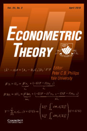 Econometric Theory Volume 34 - Issue 2 -