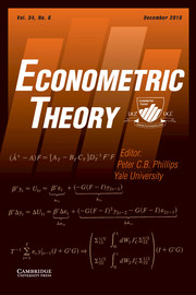 Econometric Theory Volume 34 - Issue 6 -
