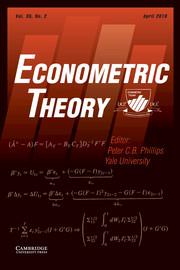 Econometric Theory Volume 35 - Issue 2 -