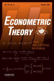 Econometric Theory Volume 37 - Issue 5 -