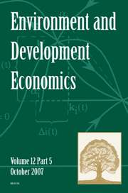 Environment and Development Economics Volume 12 - Issue 5 -  SPECIAL ISSUE ON INFECTIOUS DISEASES