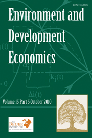 Environment and Development Economics Volume 15 - Issue 5 -
