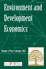 Environment and Development Economics Volume 22 - Issue 5 -