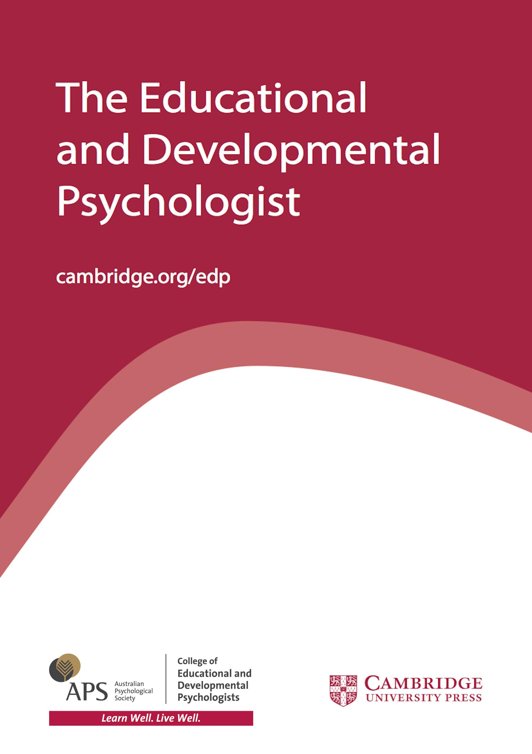 the educational and developmental psychologist cambridge core