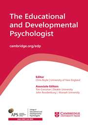The Educational and Developmental Psychologist Volume 33 - Special Issue1 -  School Belonging