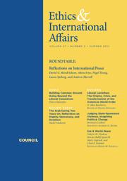 Ethics & International Affairs Volume 27 - Issue 2 -