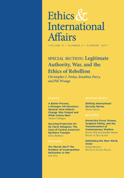 Ethics & International Affairs Volume 31 - Issue 2 -