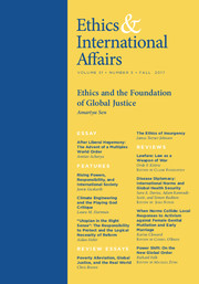 Ethics & International Affairs Volume 31 - Issue 3 -