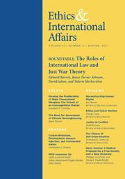 Ethics & International Affairs Volume 31 - Issue 4 -