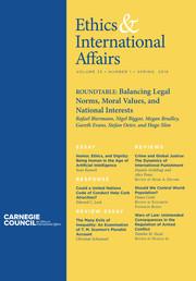 Ethics & International Affairs Volume 33 - Issue 1 -