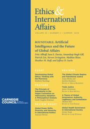 Ethics & International Affairs Volume 33 - Issue 2 -