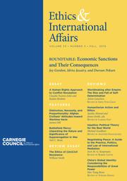 Ethics & International Affairs Volume 33 - Issue 3 -