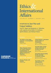 Ethics & International Affairs Volume 33 - Issue 4 -