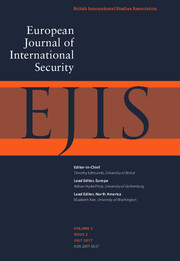 European Journal of International Security Volume 2 - Issue 2 -