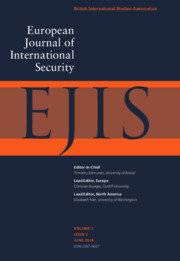 European Journal of International Security Volume 3 - Issue 2 -