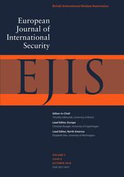 European Journal of International Security Volume 3 - Issue 3 -