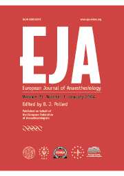 European Journal of Anaesthesiology Volume 21 - Issue 1 -