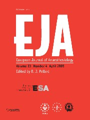 European Journal of Anaesthesiology Volume 23 - Issue 4 -