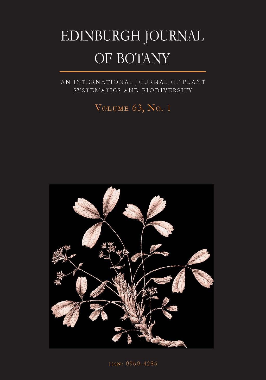 Edinburgh Journal of Botany Volume 63 - Issue 1 -