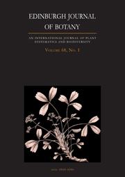 Edinburgh Journal of Botany Volume 68 - Issue 1 -