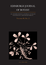 Edinburgh Journal of Botany Volume 69 - Issue 2 -