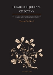 Edinburgh Journal of Botany Volume 70 - Issue 3 -