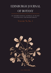 Edinburgh Journal of Botany Volume 76 - Issue 1 -