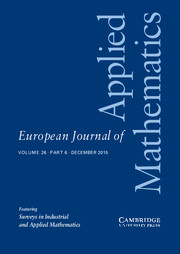 European Journal of Applied Mathematics