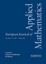 European Journal of Applied Mathematics Volume 16 - Issue 3 -