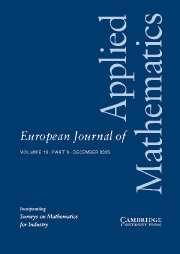 European Journal of Applied Mathematics Volume 16 - Issue 6 -