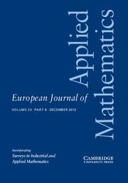 European Journal of Applied Mathematics Volume 24 - Issue 6 -
