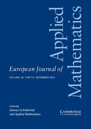 European Journal of Applied Mathematics Volume 26 - Issue 6 -