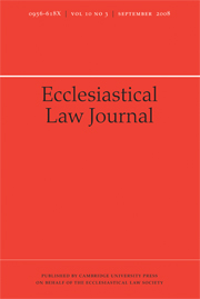 Ecclesiastical Law Journal Volume 10 - Issue 3 -