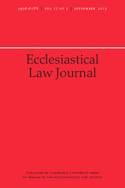 Ecclesiastical Law Journal Volume 17 - Issue 3 -