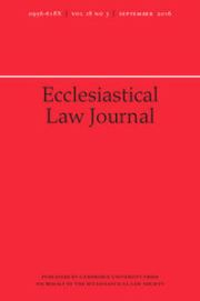 Ecclesiastical Law Journal Volume 18 - Issue 3 -