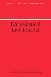 Ecclesiastical Law Journal Volume 19 - Issue 3 -