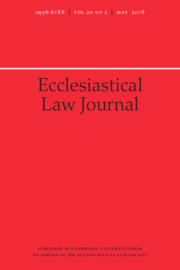 Ecclesiastical Law Journal Volume 20 - Issue 2 -