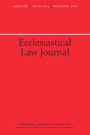 Ecclesiastical Law Journal Volume 20 - Issue 3 -