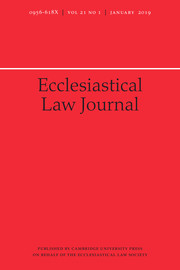 Ecclesiastical Law Journal Volume 21 - Issue 1 -
